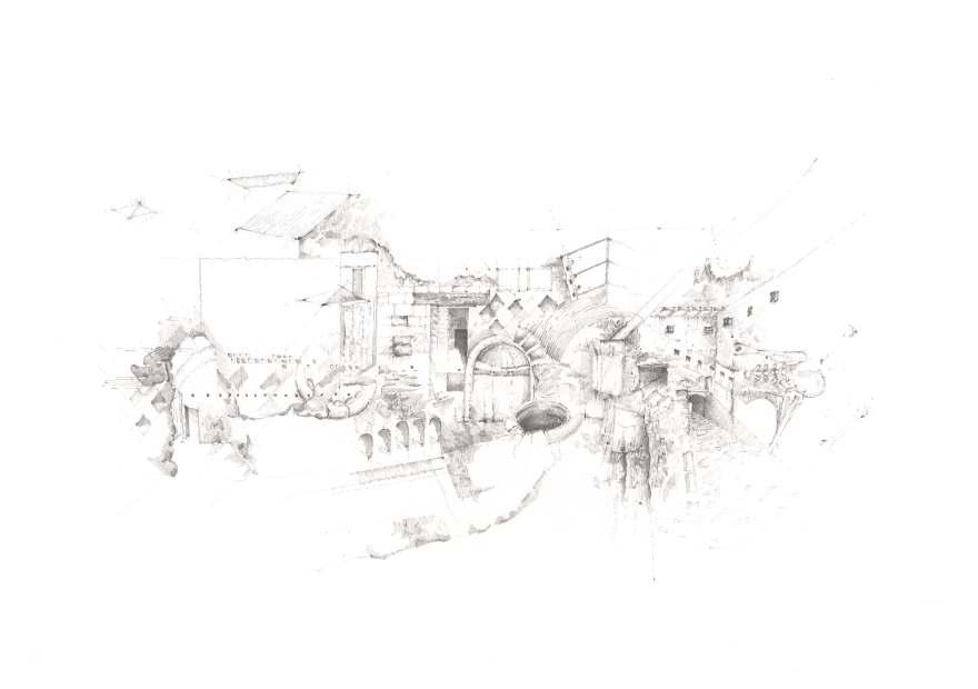 Ruins Drawing 600dpi